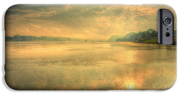 River View iPhone Cases - Big Muddy Morn iPhone Case by William Fields