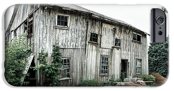 Old Barns iPhone Cases - Big Old Barn - Rustic - Agricultural Buildings iPhone Case by Gary Heller