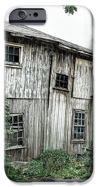 Big Old Barn - Rustic - Agricultural Buildings iPhone Case by Gary Heller