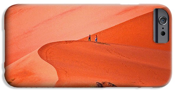 Sand Dunes Mixed Media iPhone Cases - Big Pink Dunes iPhone Case by Anthony Dalton