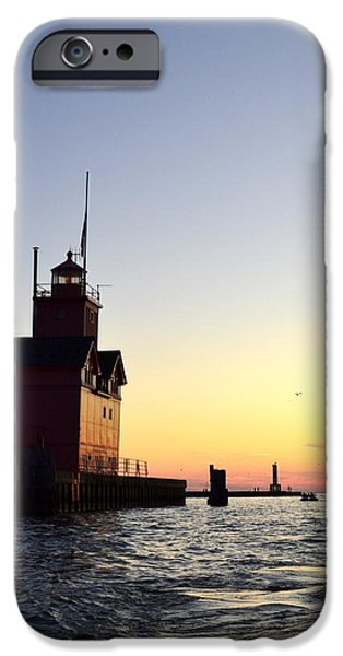 Big Red at Sunset iPhone Case by Michelle Calkins