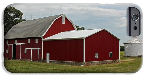 Barn Poster Photographs iPhone Cases - Big Red Barn - Carroll County Indiana iPhone Case by Suzanne Gaff