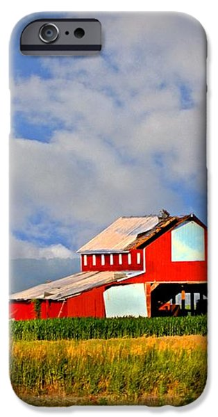 Big Red Barn iPhone Case by Marty Koch