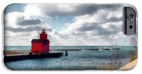 Michelle iPhone Cases - Big Red Big Wind iPhone Case by Michelle Calkins