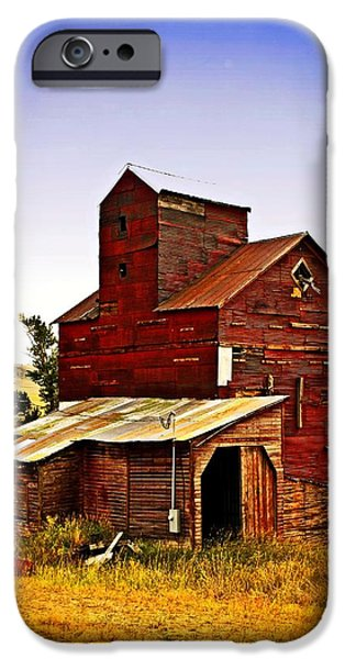 Big Red Grain Elevator iPhone Case by Marty Koch