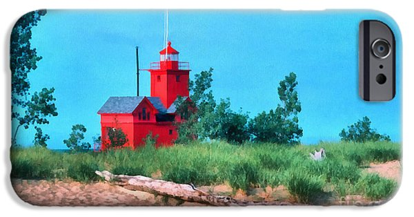 Clare Michigan iPhone Cases - Big Red Holland Michigan iPhone Case by Clare VanderVeen