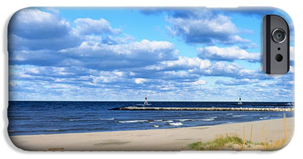 Lighthouse iPhone Cases - Big Red Lighthouse, Holland, Michigan iPhone Case by Panoramic Images