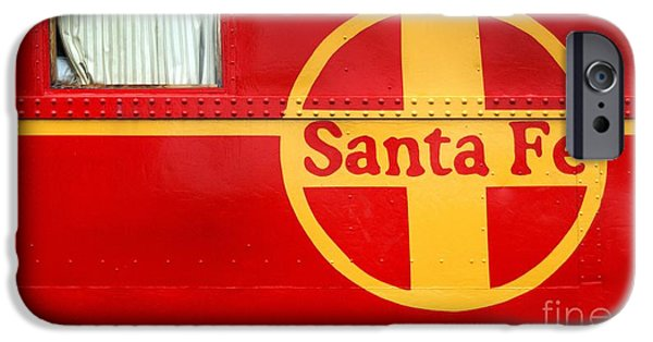 Caboose Photographs iPhone Cases - Big Red Santa Fe Caboose iPhone Case by Paul W Faust -  Impressions of Light