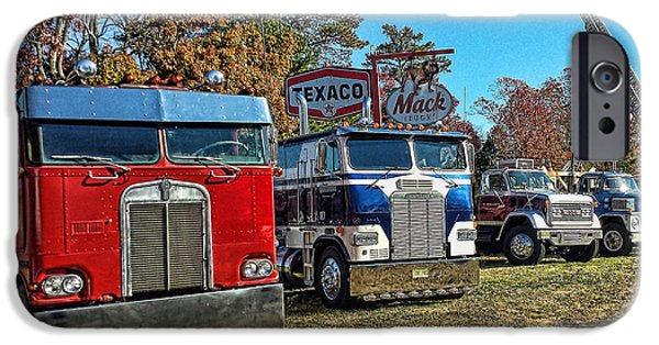 Recently Sold -  - Patriotism iPhone Cases - Big Rigs Americana iPhone Case by Don Kleinschmidt