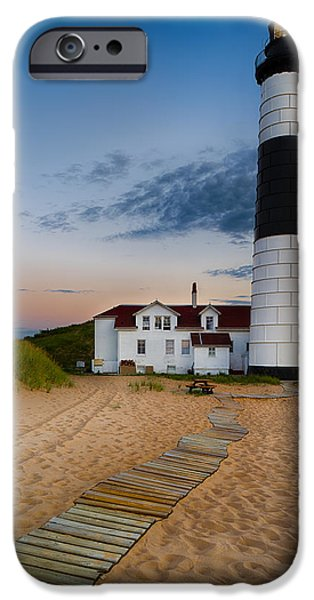 Architecture iPhone Cases - Big Sable Point Lighthouse iPhone Case by Sebastian Musial