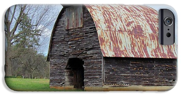 Old Barns iPhone Cases - Gothic Arch-Roofed Barn iPhone Case by Cynthia Guinn