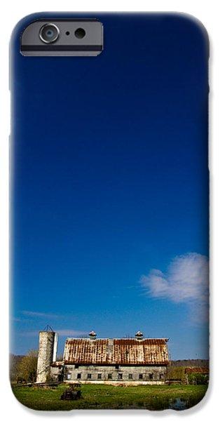 Barns iPhone Cases - Big Sky Barn iPhone Case by Shane Holsclaw