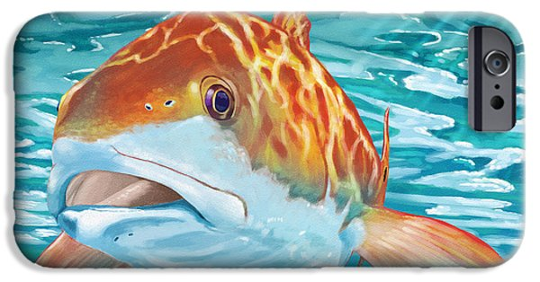 Redfish iPhone Cases - Big Studs iPhone Case by Kevin Putman