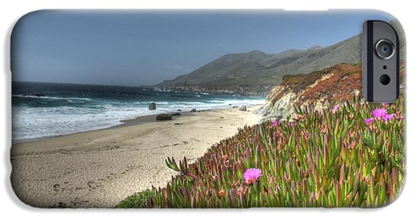 Big Sur Ca iPhone Cases - Big Sur Beach iPhone Case by Jane Linders