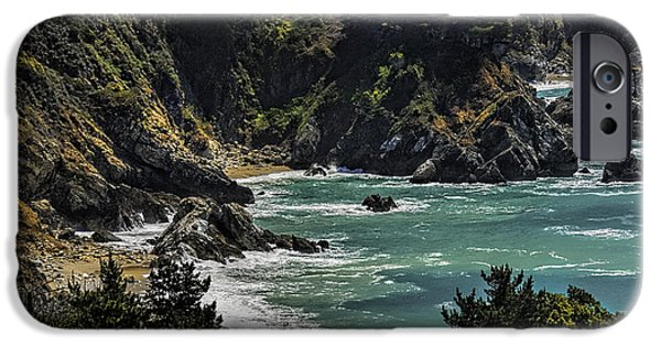 Big Sur Beach iPhone Cases - Big Sur Beach iPhone Case by Lynn Andrews