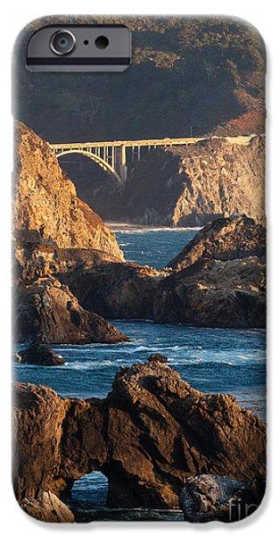 Big Sur iPhone Cases - Big Sur Coastal Serenity iPhone Case by Mike Reid