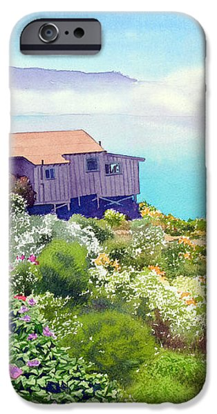 Big Sur Cottage iPhone Case by Mary Helmreich