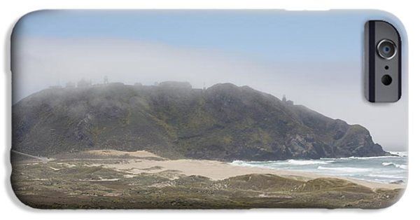 Lighthouse iPhone Cases - Big Sur Lighthouse Under Fog iPhone Case by George Battersby
