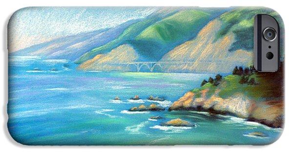 Ocean Pastels iPhone Cases - Big Sur Serenity iPhone Case by Karin  Leonard