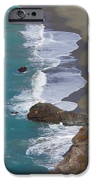 Big Sur Ca iPhone Cases - Big Sur Surf iPhone Case by Art Block Collections