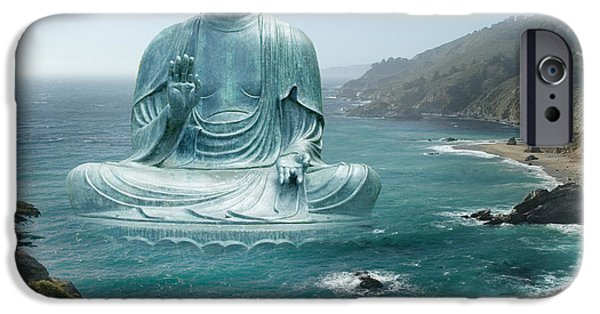 Buddhism Photographs iPhone Cases - Big Sur Tea Garden Buddha iPhone Case by Alixandra Mullins