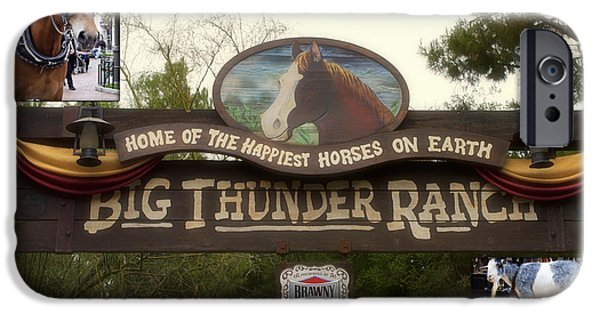 Beauty Mark iPhone Cases - Big Thunder Ranch Signage Frontierland Disneyland iPhone Case by Thomas Woolworth