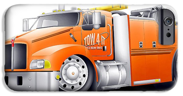 Tow Truck iPhone Cases - Big Tow iPhone Case by Lyle Brown