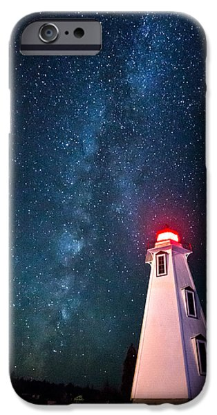 Lighthouse iPhone Cases - Big Tub Lighthouse iPhone Case by Cale Best
