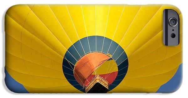 Hot Air Balloon iPhone Cases - Big Yellow Balloon iPhone Case by Joseph Smith