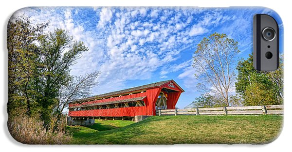 Covered Bridge iPhone Cases - Bigalow Covered Bridge iPhone Case by Brian Mollenkopf