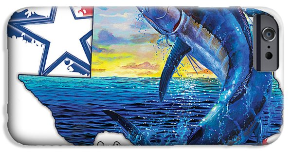 Vikings Paintings iPhone Cases - Bigger in Texas iPhone Case by Carey Chen