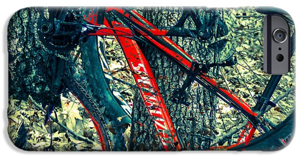 Abstract Digital Digital iPhone Cases - Bike by Wilderness  iPhone Case by Steven  Digman
