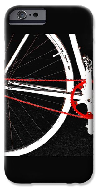 Bike In Black White And Red No 2 iPhone Case by Ben and Raisa Gertsberg