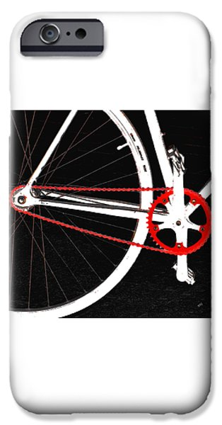 Orb iPhone Cases - Bike In Black White And Red No 2 iPhone Case by Ben and Raisa Gertsberg