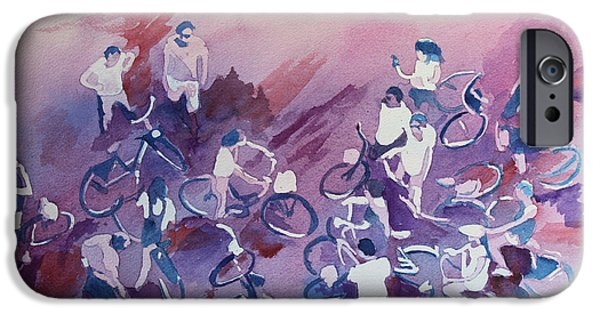 Rally iPhone Cases - Bike Tour iPhone Case by Jenny Armitage