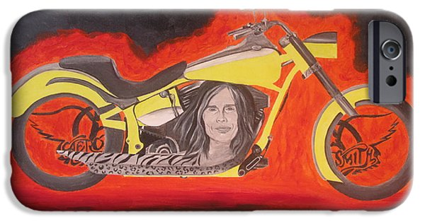 Steven Tyler Paintings iPhone Cases - Biker iPhone Case by Jeepee Aero