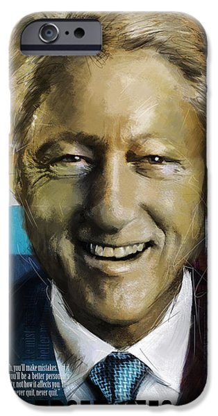 Arkansas iPhone Cases - Bill Clinton iPhone Case by Corporate Art Task Force