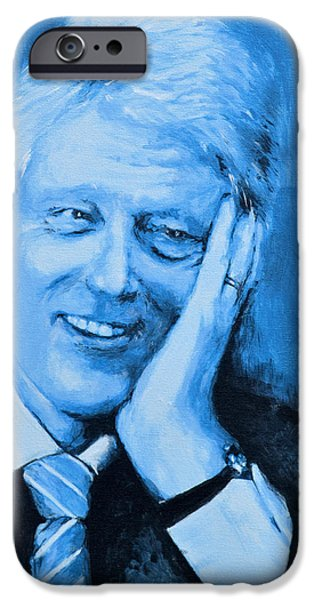 Bill Clinton iPhone Case by Victor Minca
