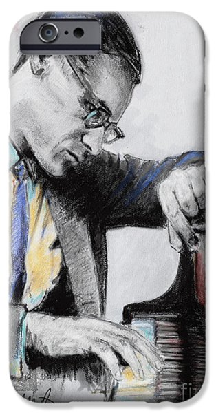 Piano Pastels iPhone Cases - Evans Bill iPhone Case by Melanie D