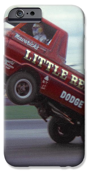 Bill Maverick Golden in the Little Red Wagon iPhone Case by Mike McGlothlen