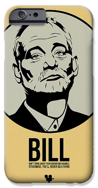 Film Mixed Media iPhone Cases - Bill Poster 1 iPhone Case by Naxart Studio