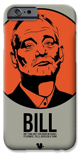 Movie Star iPhone Cases - Bill Poster 3 iPhone Case by Naxart Studio