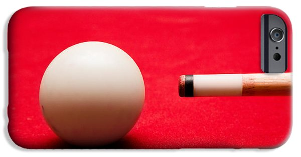 Balls Photographs iPhone Cases - Billards pool game iPhone Case by Michal Bednarek