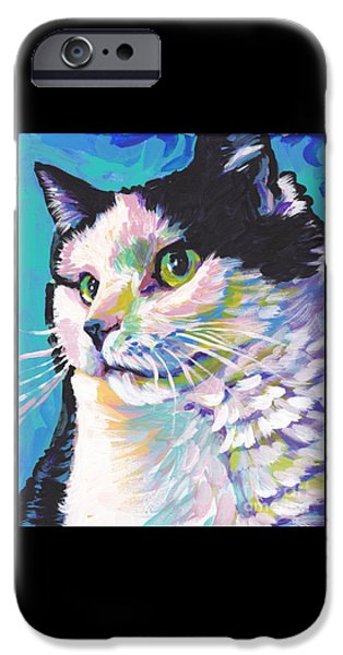 White Cat Art iPhone Cases - Billi Cat Baby iPhone Case by Lea