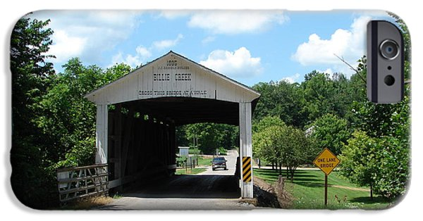 Billie Creek iPhone Cases - Billie Creek Covered Bridge iPhone Case by BJ Karp