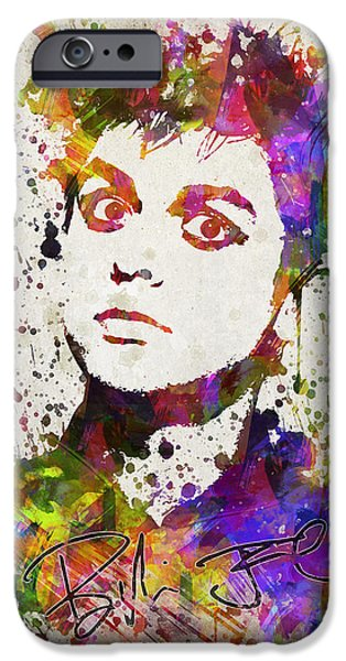 Celebrities Digital iPhone Cases - Billie Joe Armstrong in Color iPhone Case by Aged Pixel