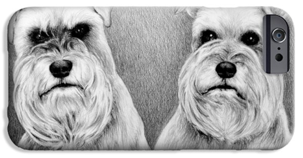 Dogs Digital Art iPhone Cases - Billy and Misty iPhone Case by Andrew Read