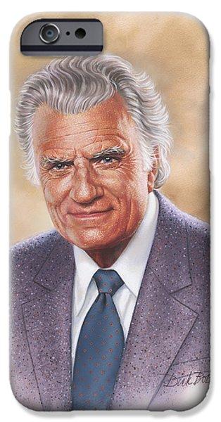 Billy Graham Evangelist iPhone Case by Dick Bobnick