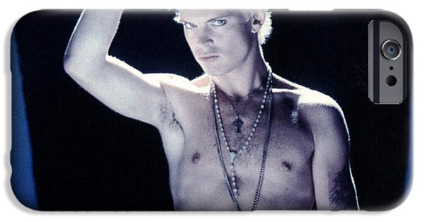 Eighties iPhone Cases - Billy Idol - Close Up & Personal iPhone Case by Epic Rights