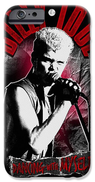 Eighties iPhone Cases - Billy Idol - Dancing with Myself iPhone Case by Epic Rights